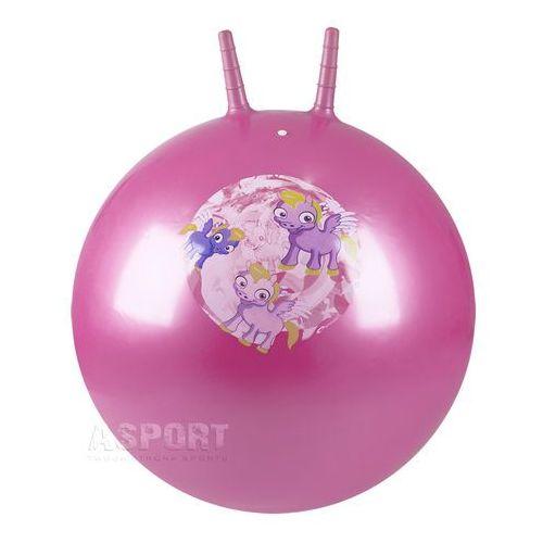Piłka skacząca z rogami 60cm PONNY BALL różowa , produkt marki Spokey