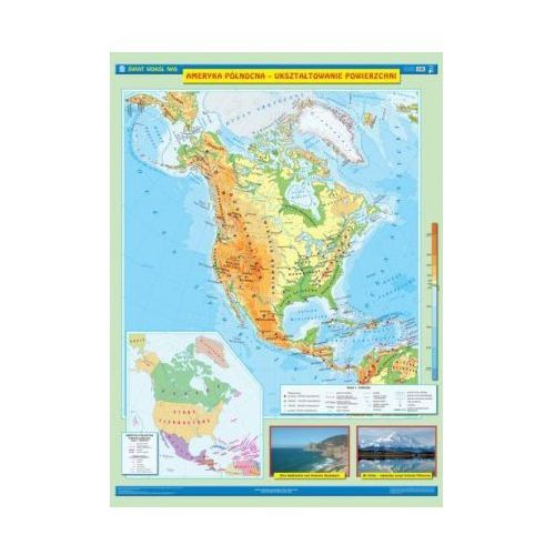 Produkt Ameryka Północna. Ukształtowanie powierzchni / Krajobrazy. Mapa ścienna Ameryki Północnej, marki Nowa Era