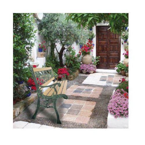 Ławka ogrodowa z motywem róży 122 cm, vidaXL