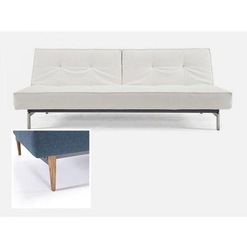 Sofa Splitback biała 588 nogi jasne drewno  741010588-741024-1-6, INNOVATION iStyle