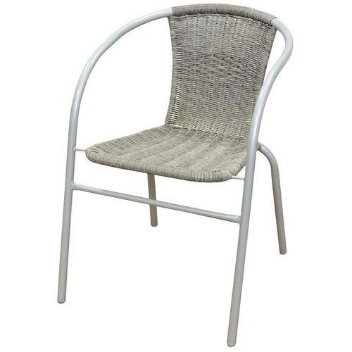 Krzesło ogrodowe FLORALAND z plecionym oparciem popielaty JLC307 ze sklepu ELECTRO.pl