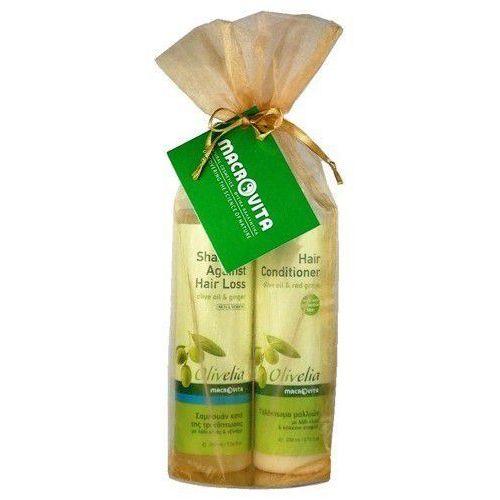 ZESTAW OLIVE-ELIA: szampon przeciw wypadaniu włosów 200ml + odżywka do włosów 200ml - produkt z kategorii- odżywki do włosów