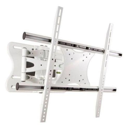 Uchwyt dwuramienny do lcd/pdp 40''-65'' uchylny/obrotowy max.75kg biały od producenta 4world