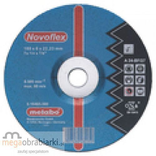 METABO Tarcza tnąca do stali 115 mm (25 szt) Novoflex A 24-N wypukła RATY 0,5% NA CAŁY ASORTYMENT DZWOŃ 77 415 31 82 ze sklepu Megaobrabiarki - zaufaj specjalistom