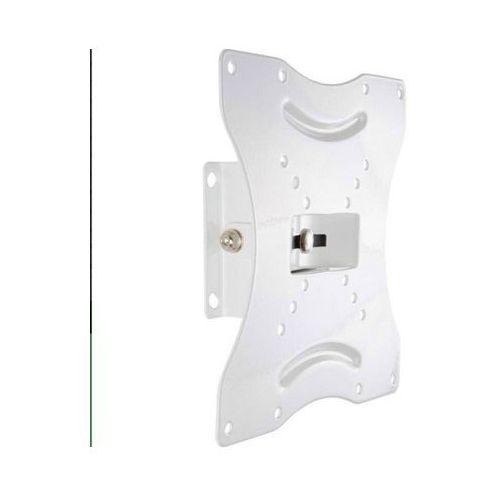 Uchwyt ścienny do lcd 15''-30'' vesa 50/200 uchylny/obrotowy max.25kg biały od producenta 4world