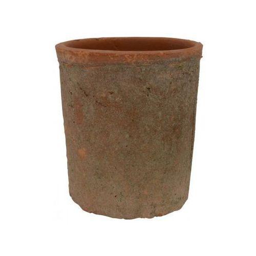 Doniczka Gliniana Cylinder II czerwona  1537-33, produkt marki Ib Laursen