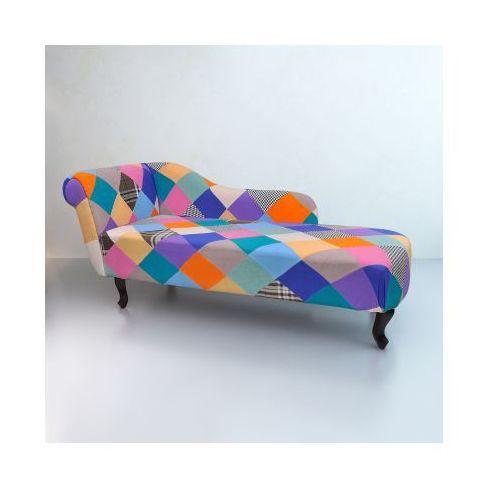 Patchworkowa sofa, leżanka Chesterfield, vidaXL