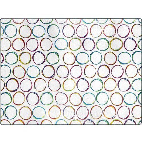 Deante  deska szklana biała + grafika kolor
