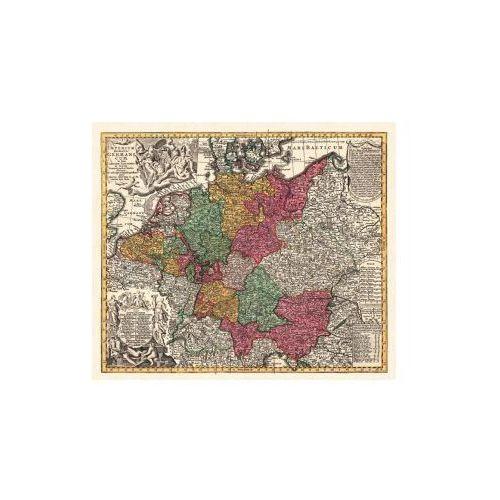 Mapa Niemiec - Święte Cesarstwo Rzymskie, M. Seutter, ok. 1730 r., produkt marki Golden Maps Publishing