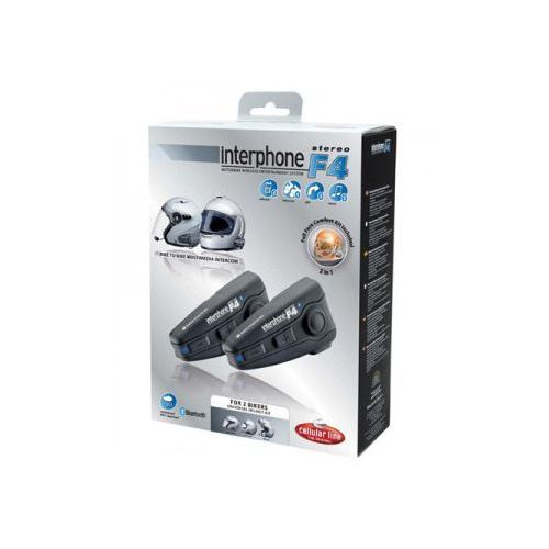 Intercom motocyklowy F4 Universal Twin Pack Plus (zestaw dwóch) MC SERIES, marki Interphone do zakupu w MotoKanion