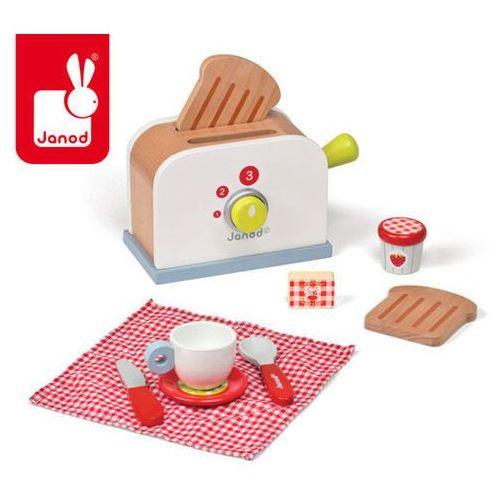 Toster drewniany Zestaw śniadaniowy z 9 akcesoriami - zabawka dla dzieci oferta ze sklepu www.epinokio.pl