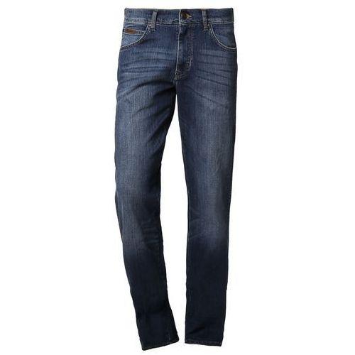 Produkt z kategorii- spodnie męskie - Wrangler PITTSBORO Jeansy Bootcut niebieski