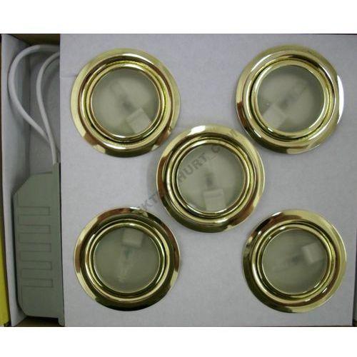 GTV Zestaw opraw meblowych ZH-520 5x20W złoto z kategorii oświetlenie