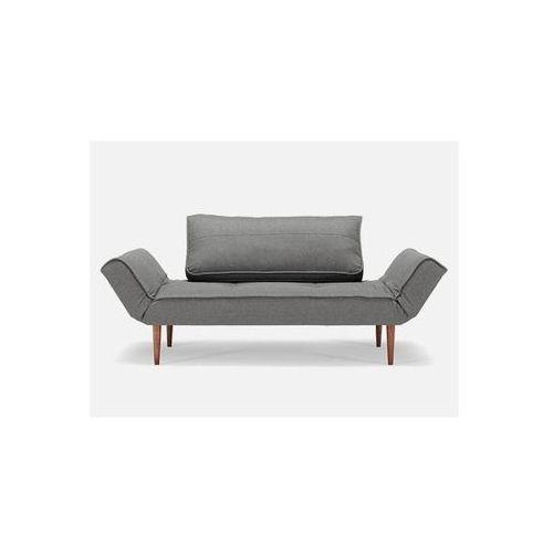 Sofa Zeal szara 216 nogi ciemne drewno  740021216-2-740021-3, INNOVATION iStyle