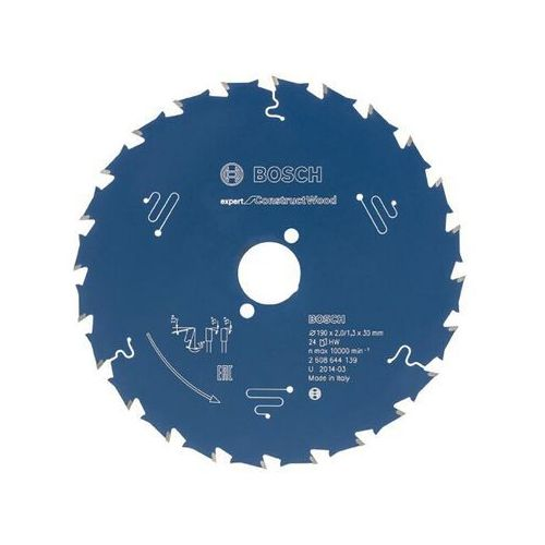 Tarcza pilarska Expert for ConstructWood 190x30x2/1.3x24 T Bosch ze sklepu NEXTERIO