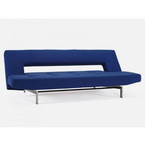Sofa Wing szafirowa 553 nogi chromowane  742001553-742001-0-2, INNOVATION iStyle