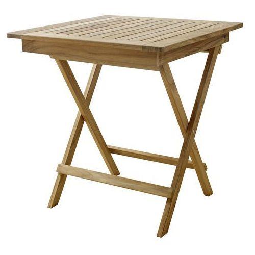 Stolik składany Cinas York teak 70x70 cm (stół ogrodowy)