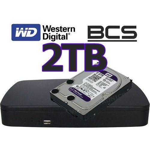 Rejestrator sieciowy IP BCS-NVR0801E + dysk 2TB