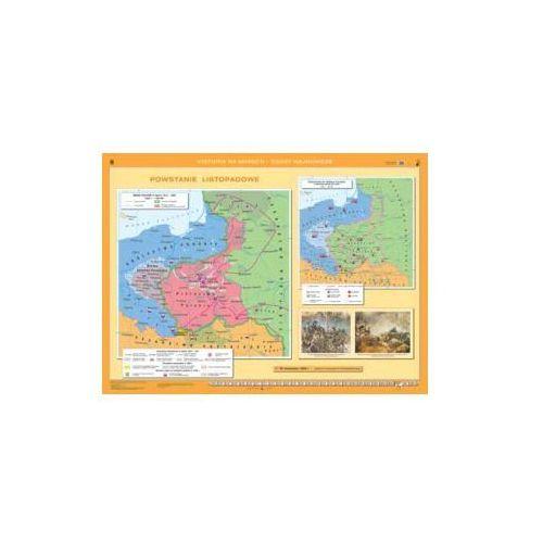Księstwo Warszawskie / Powstanie listopadowe. Mapa ścienna., produkt marki Nowa Era
