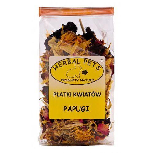 Płatki kwiatów dla papug 30g - uzupełniająca karma dla ptaków , Herbal Pets