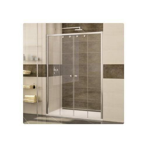 Ronal Pur Light S Drzwi prysznicowe czteroczęściowe - 140/200 cm biały Szkło cieniowane niebieski PLS41400