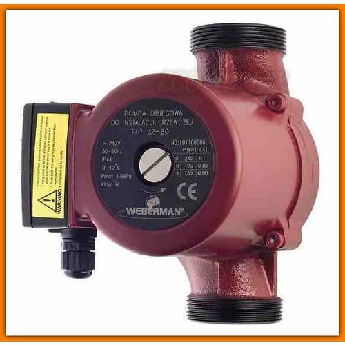 Towar z kategorii: pompy cyrkulacyjne - Pompa obiegowa do instalacji grzewczej i solarnej 0401W WEBERMAN 32-80 Ferro