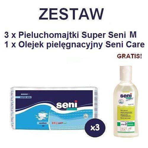 Produkt Pieluchomajtki Super Seni (2) Medium 3op. x 30szt + Olejek Seni Care