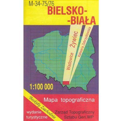 M-34-75/76 Bielsko-Biała. Mapa topograficzno-turystyczna 1:100 000 wyd. WZ-Kart, produkt marki Wojskowe Zakłady Kartograficzne