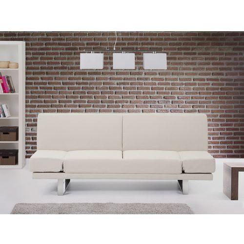 Rozkladana sofa ruchome podlokietniki - YORK bez, Beliani