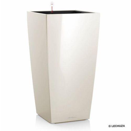 Donica  CUBICO - biała - 50 x 50 x 95 cm, połysk - biały, produkt marki Lechuza