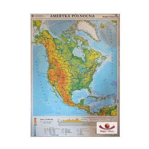Ameryka Północna. Mapa ścienna Ameryki Północnej, ogólnogeograficzna / mapa do ćwiczeń, produkt marki Nowa Era