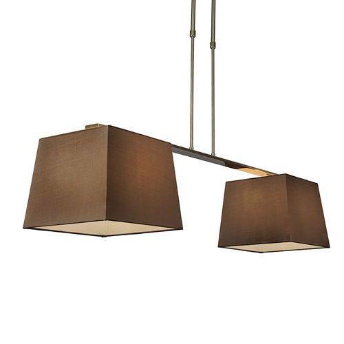 Lampa wisząca Combi Delux 2 klosz kwadratowy 30cm brązowy - sprawdź w lampyiswiatlo.pl