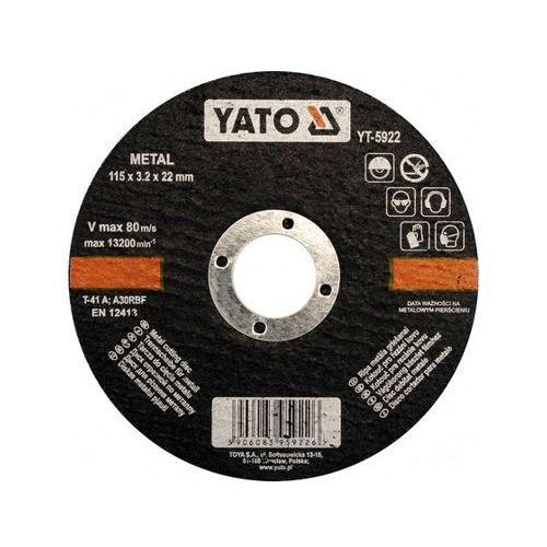 Tarcza tnąca do metalu 125x22x1.2mm YT-5923 Yato ze sklepu NEXTERIO