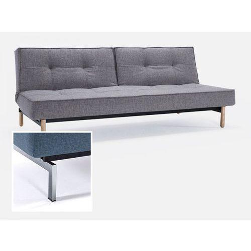 Sofa Splitback szarobeżowa 521 nogi chromowane  741010521-741010-0-2, INNOVATION iStyle