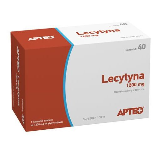 Lecytyna 1200 mg APTEO kaps.elast. - 40 kaps., postać leku: kapsułki