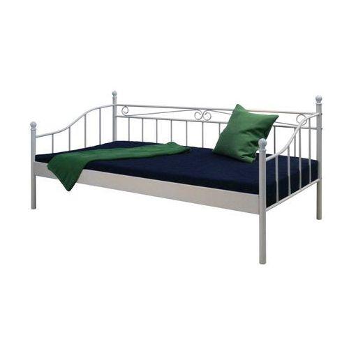 Łóżko LINDA, 90x200 cm, białe, stal, 30200-2 ze sklepu FUTURI Nowoczesne Meble