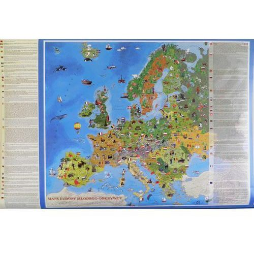 Mapa ścienna Europa Młodego odkrywcy od SELKAR