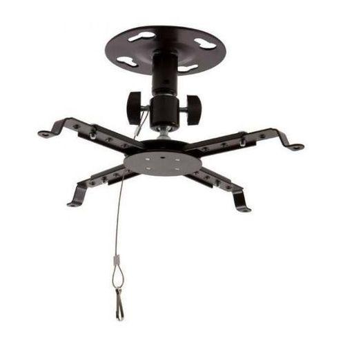 Uchwyt sufitowy do projektorów uchylny/obrotowy, max.8kg, czarny od producenta 4world