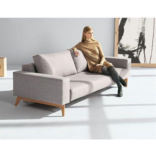 Istyle Idun Sofa Rozkładana, podłokietniki, szara tkanina 521, nogi drewniane - idun745021521-01, Innovation