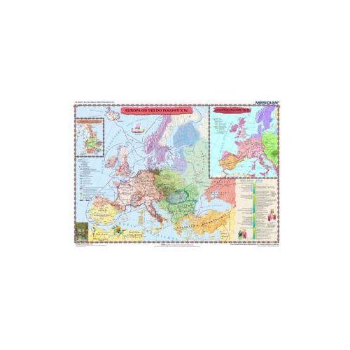 Produkt Europa wczesnośredniowieczna. Mapa ścienna Europy., marki Meridian