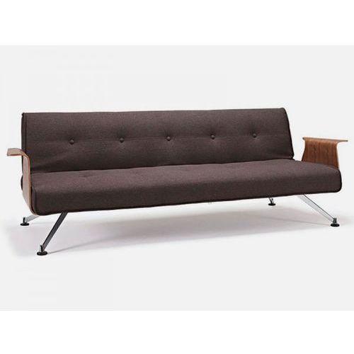 Sofa Clubber z podłokietnikami szara 563  742041563-0-742041003-3, INNOVATION iStyle