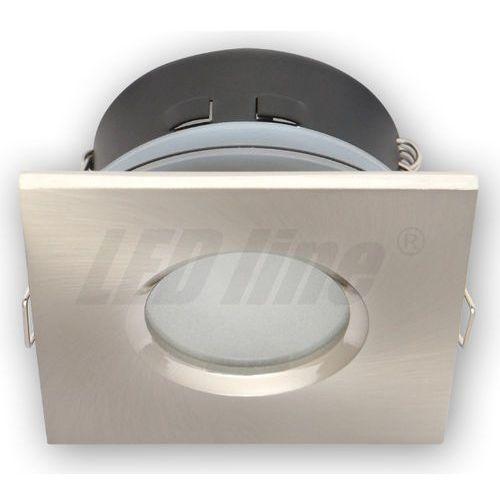LED line Oprawa oprawka led halogenowa wodoodporna stała kwadratowa kolor satyna IP65 245398 z kategorii oświetlenie