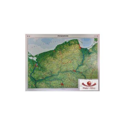 Pomorze / Województwo zachodniopomorskie, pomorskie, kujawsko-pomorskie. Mapa ścienna regionalna ogólnogeograficzna / krajobrazowa, produkt marki Nowa Era