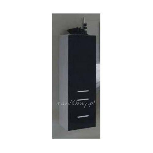 Szafka Elita Kwadro 40 słupek czarna 163030 - produkt z kategorii- regały łazienkowe