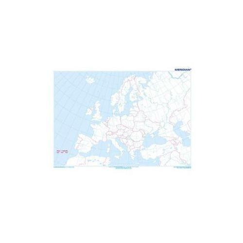 Produkt Europa konturowa. Mapa ścienna Europy., marki Meridian