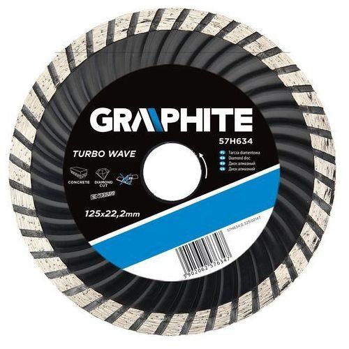 Tarcza do cięcia GRAPHITE 57H636 180 x 22.2 mm diamentowa turbo wave ze sklepu Media Expert