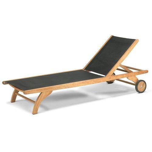 Leżak z kółkami Skagerak Columbus black - produkt dostępny w All4home