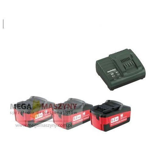 METABO Zestaw 5,2 Ah 3 akumulatory. ładowarka, kup u jednego z partnerów