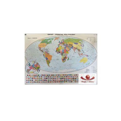 Produkt Świat. Mapa polityczna / konturowa. Mapa ścienna, marki Nowa Era
