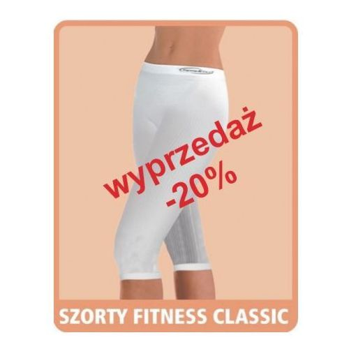 Artykuł Szorty przeciwcellulitowe fitness classic - białe i beżowe z kategorii bielizna wyszczuplająca